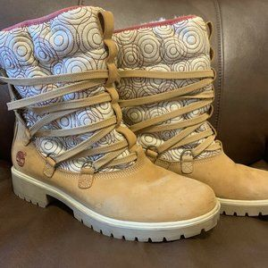 Timberland Fur Lined Boots Size 10M